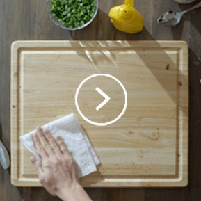Use Viva Paper Towels to clean kitchen cutting boards.