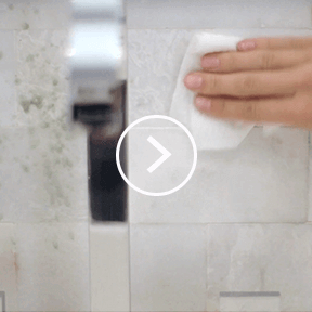 Clean shower tiles easily with Viva® Paper Towels.