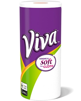 Viva soft and strong paper towel roll.