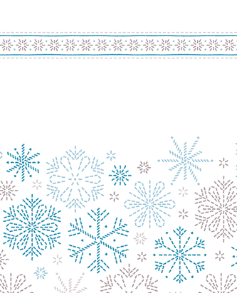 Viva Winter Paper Towels with blue snowflake design.