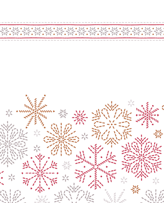 Viva Paper Towels with red snowflake design.