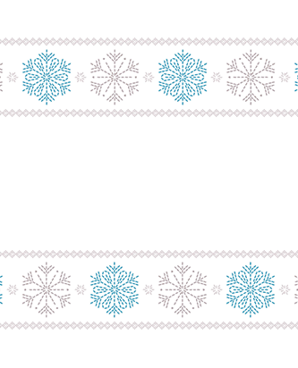 Viva Winter Signature Designs with rows of blue and silver snowflake patterns.